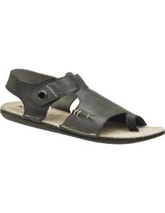 kickers SPARTIATE, sandalia chico cuero en color negro