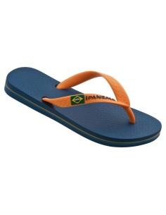 IPANEMA CLAS BRASIL 80416, para niños y chicas, en azul/naranja