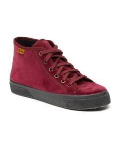 natural world botín BASKET VELVET 2921, zapato con proceso producción ecológico, certificado made in green,