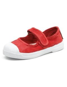 natural world ZAPATO MERCEDES,  zapato modelo mercedes con velcro,  proceso producción ecológico, certificado made in green,