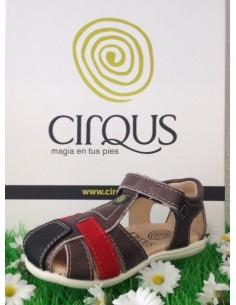 sandalias cirqus 151205, elaboradas en piel  niñas