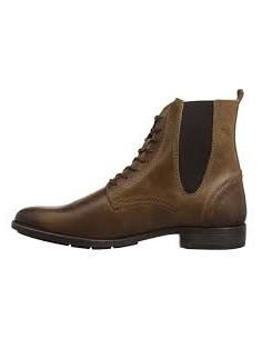 Fly London POKE, botas de cuero para hombre