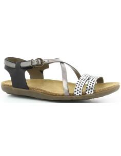 sandalia Kickers ATOMIUM, sandalia plana de mujer de piel