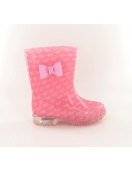Botas de Agua DOLLY KIDS FLASH rose de la marca Be Only, para los niñas, con suela luminosa por 29€