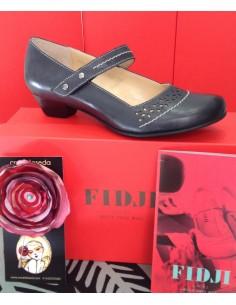 FIDJI 460007 zapato diseño vintaje  tacón bajo