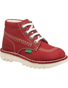 kickers Rallye, bota clásico atemporal en rojo, rosa y fucsia, tallas desde 24 a 35