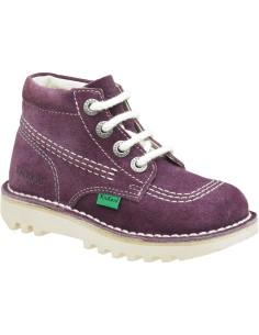 kickers Rallye, bota clásico atemporal en violeta tallas desde 24 a 34